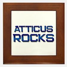 atticus rocks Framed Tile