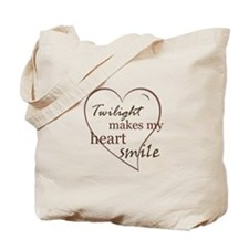 Twilight makes my heart smile Tote Bag