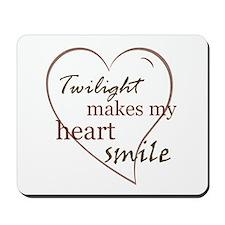 Twilight makes my heart smile Mousepad