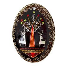 PYSANKA Ukrainian Design Oval Ornament
