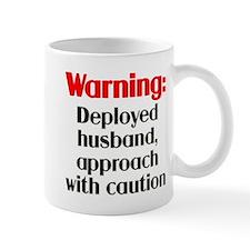 Warning: Deployed husband Mug