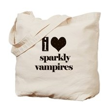 i heart sparkly vampires Tote Bag