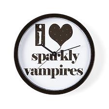 i heart sparkly vampires Wall Clock