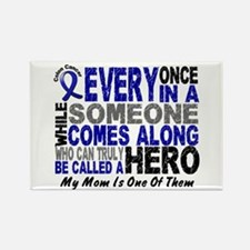 HERO Comes Along 1 Mom CC Rectangle Magnet