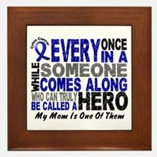 HERO Comes Along 1 Mom CC Framed Tile