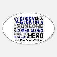 HERO Comes Along 1 Mom CC Oval Sticker (10 pk)