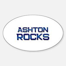 ashton rocks Oval Decal