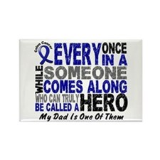HERO Comes Along 1 Dad CC Rectangle Magnet