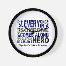HERO Comes Along 1 Dad CC Wall Clock