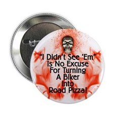 """2.25"""" Flames & Skull Button (10 pack)"""