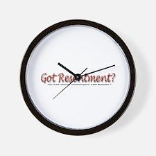 """""""Got Resentment?"""" Wall Clock"""