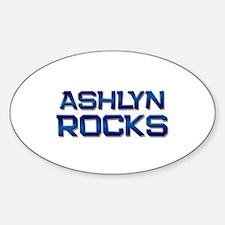ashlyn rocks Oval Decal