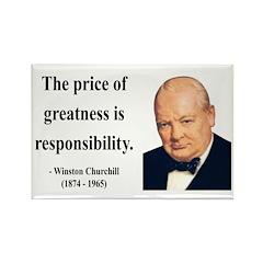 Winston Churchill 18 Rectangle Magnet (10 pack)