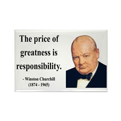Winston Churchill 18 Rectangle Magnet