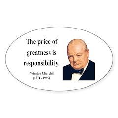 Winston Churchill 18 Oval Decal
