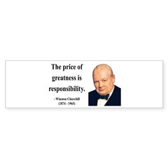 Winston Churchill 18 Bumper Bumper Sticker