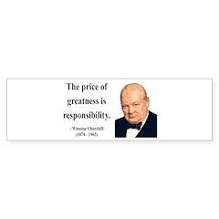Winston Churchill 18 Bumper Bumper Sticker