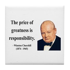 Winston Churchill 18 Tile Coaster