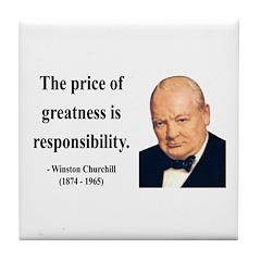 Winston Churchill 18 Tile Coaster