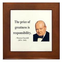 Winston Churchill 18 Framed Tile