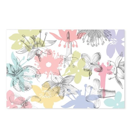 Spring Flowers Postcards (Package of 8)