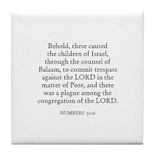 NUMBERS  31:16 Tile Coaster