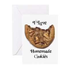 I LOVE HOMEMADE COOKIES Greeting Cards (Package of