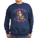 Cute Kewpie Style Art Easter Sweatshirt (dark)