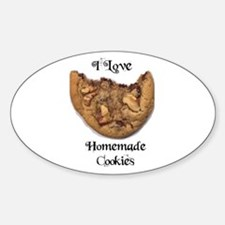 I LOVE HOMEMADE COOKIES Oval Decal