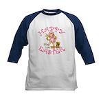 Cute Kewpie Style Art Easter Kids Baseball Jersey