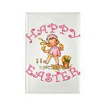 Cute Kewpie Style Art Easter Rectangle Magnet (100