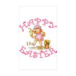 Cute Kewpie Style Art Easter Rectangle Sticker 50