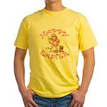Cute Kewpie Style Art Easter Yellow T-Shirt