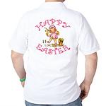 Cute Kewpie Style Art Easter Golf Shirt