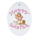 Cute Kewpie Style Art Easter Oval Ornament