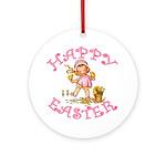 Cute Kewpie Style Art Easter Ornament (Round)