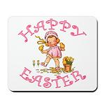 Cute Kewpie Style Art Easter Mousepad