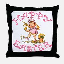 Cute Kewpie Style Art Easter Throw Pillow