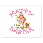 Cute Kewpie Style Art Easter Small Poster