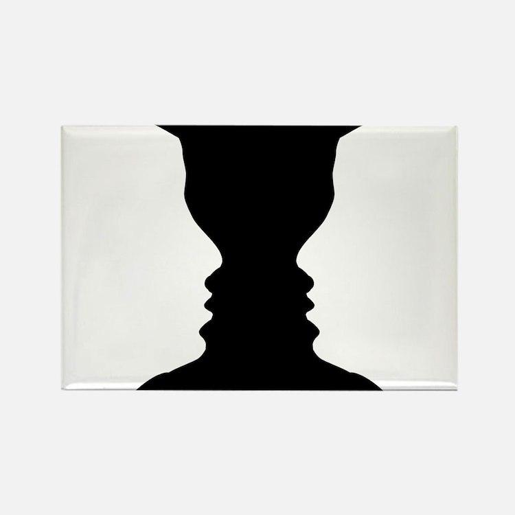 Rubin vase Rectangle Magnet
