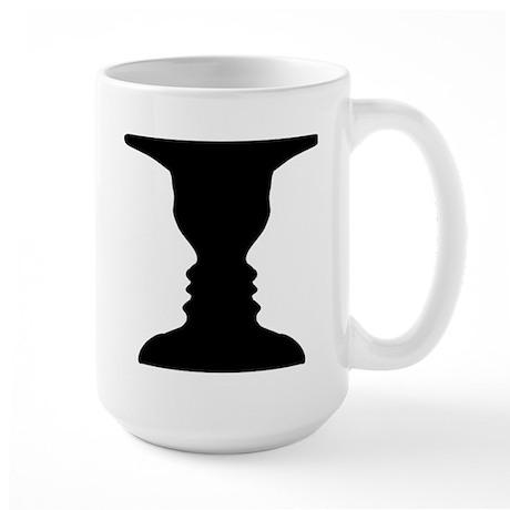 Rubin vase Large Mug