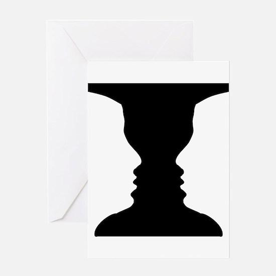 Rubin vase Greeting Card
