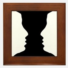 Rubin vase Framed Tile