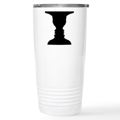 Rubin vase Stainless Steel Travel Mug