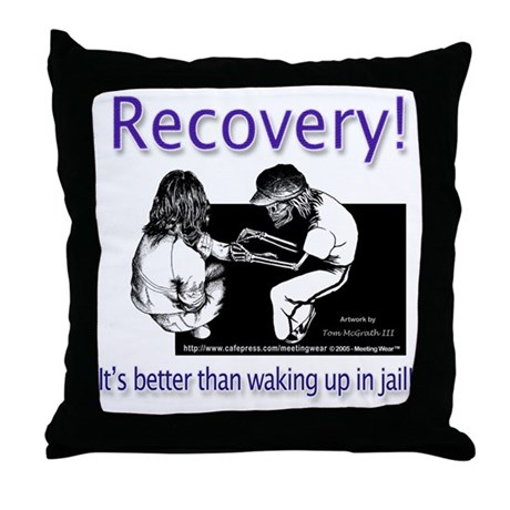 """Better than waking up in jai Throw Pillow"