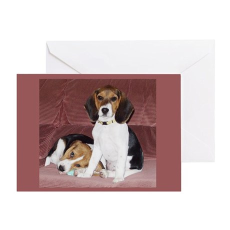 Beagles Greeting Card