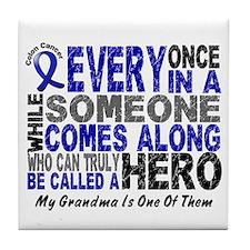 HERO Comes Along 1 Grandma CC Tile Coaster