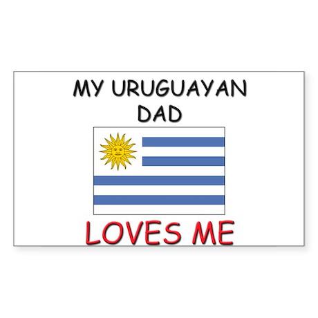 My URUGUAYAN DAD Loves Me Rectangle Sticker