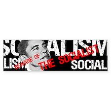 """""""Beware Of The Socialist"""" Bumper Bumper Sticker"""
