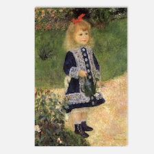 Renoir Girl w Watering Can Postcards (Package of 8